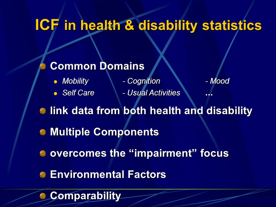 ICF in health & disability statistics