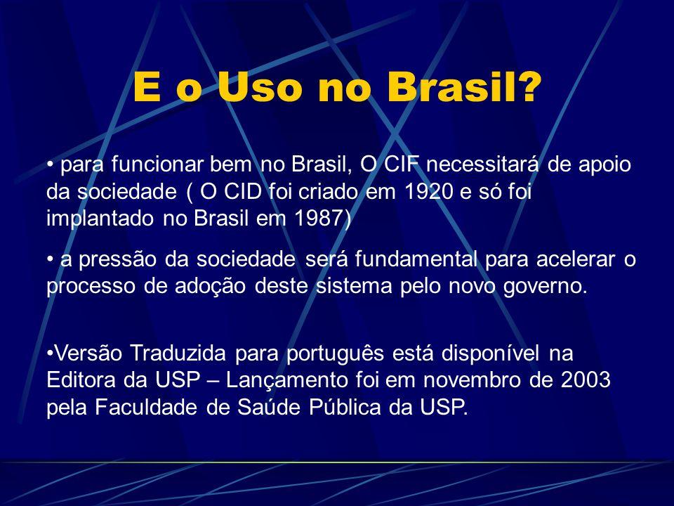 E o Uso no Brasil