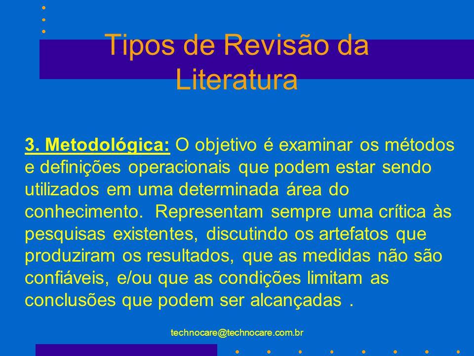 Tipos de Revisão da Literatura