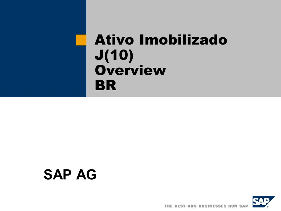 Ativo Imobilizado J(10) Overview BR