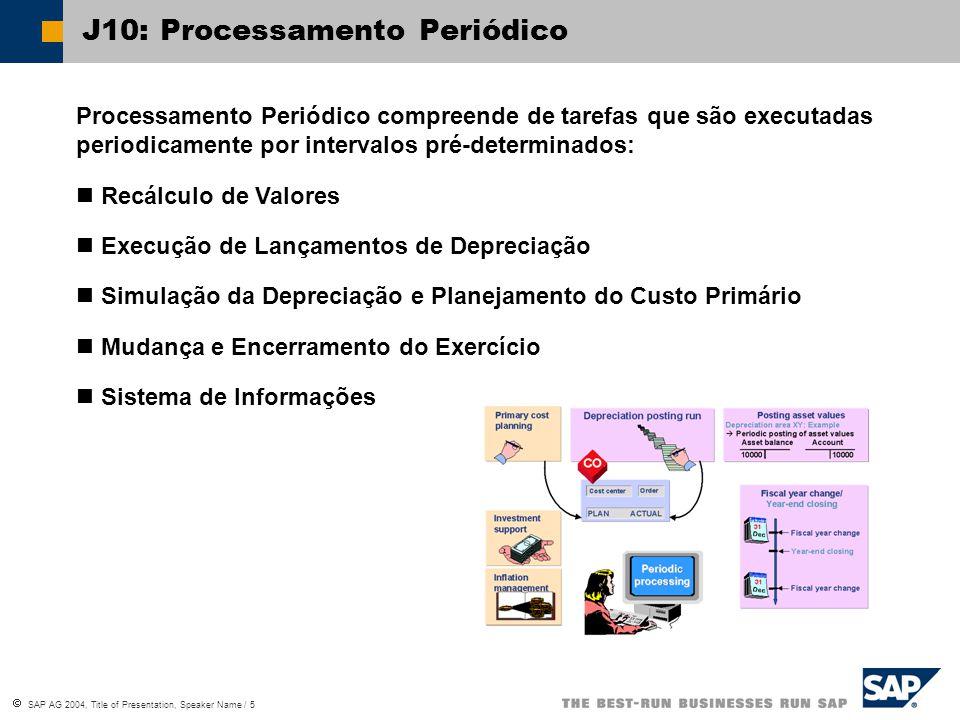 J10: Processamento Periódico