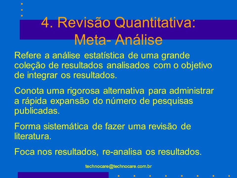 4. Revisão Quantitativa: Meta- Análise