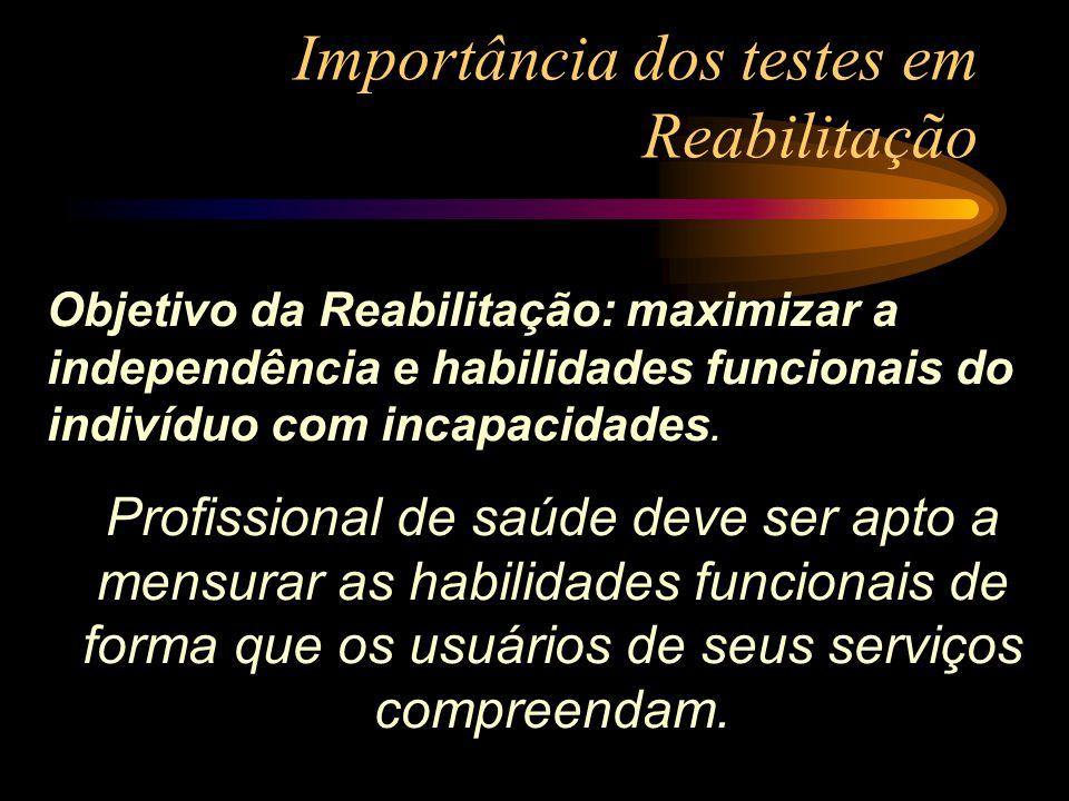 Importância dos testes em Reabilitação