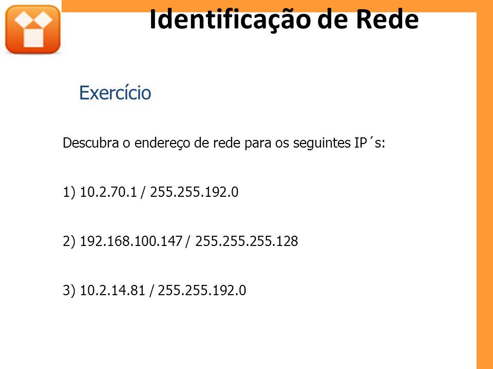 Identificação de Rede Exercício