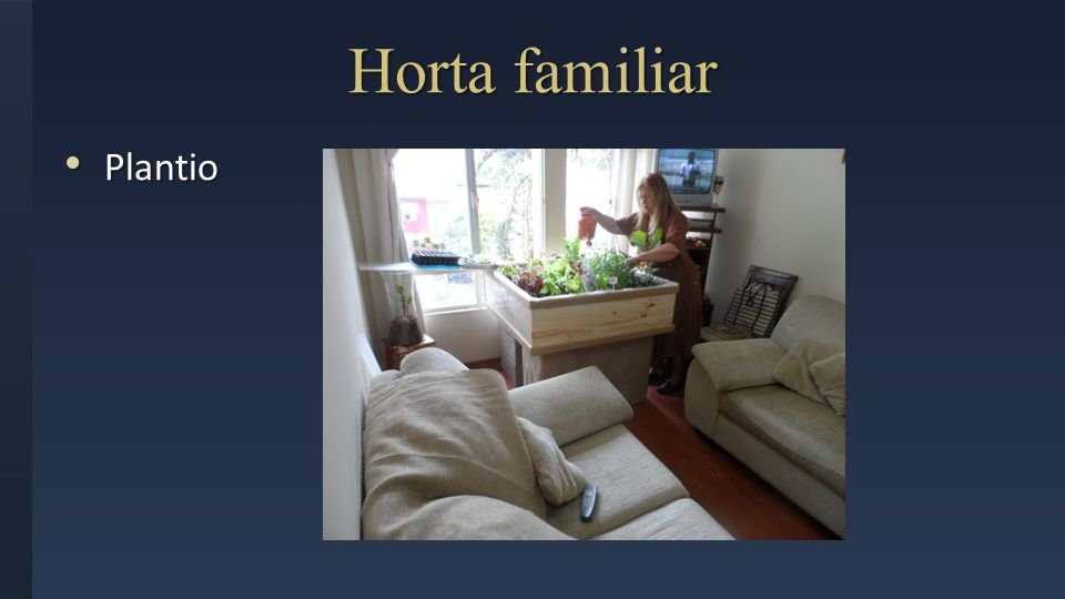 Horta familiar Plantio