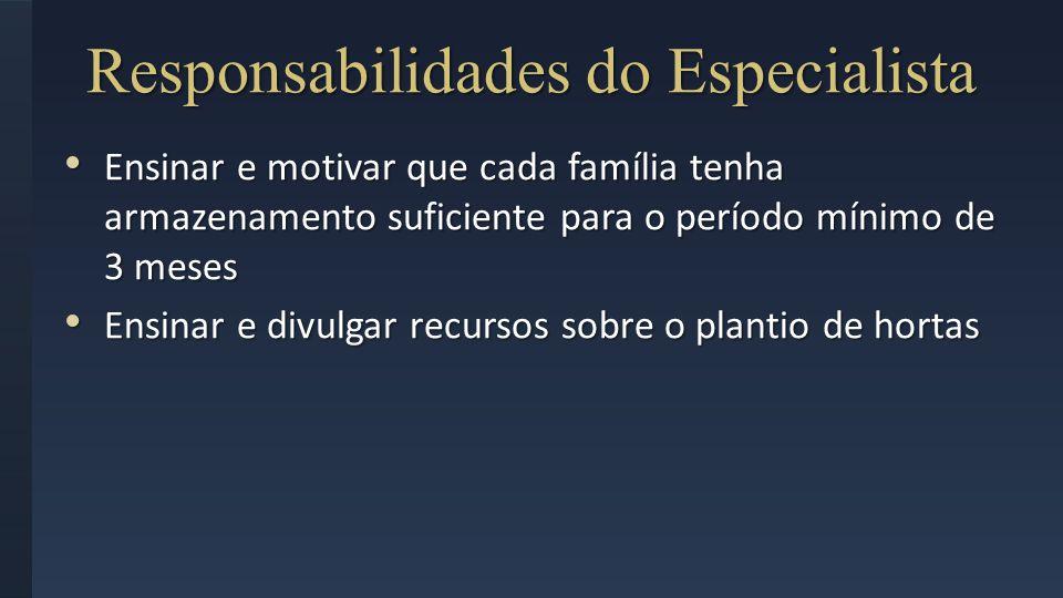 Responsabilidades do Especialista