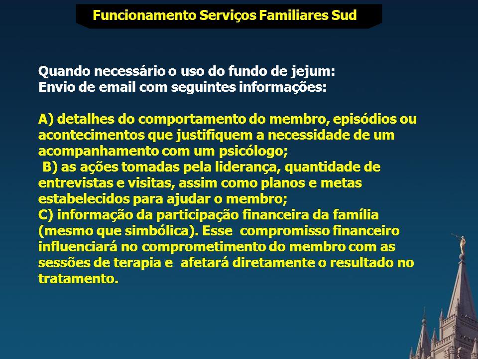FUNCIONAMENTO SERVIÇOS FAMILIARES SUD