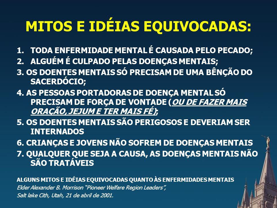 MITOS E IDÉIAS EQUIVOCADAS: