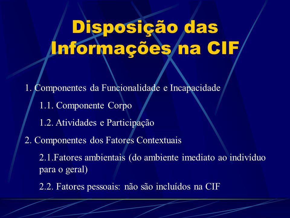 Disposição das Informações na CIF