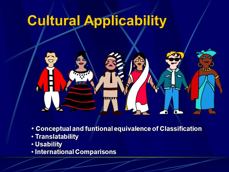 Cultural Applicability