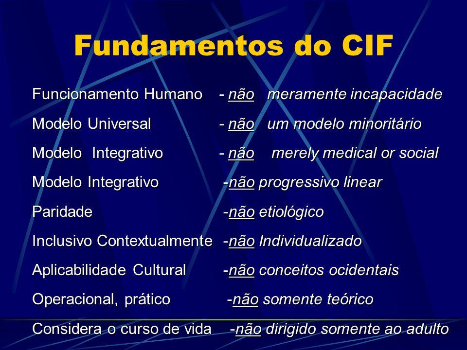 Fundamentos do CIF Funcionamento Humano - não meramente incapacidade