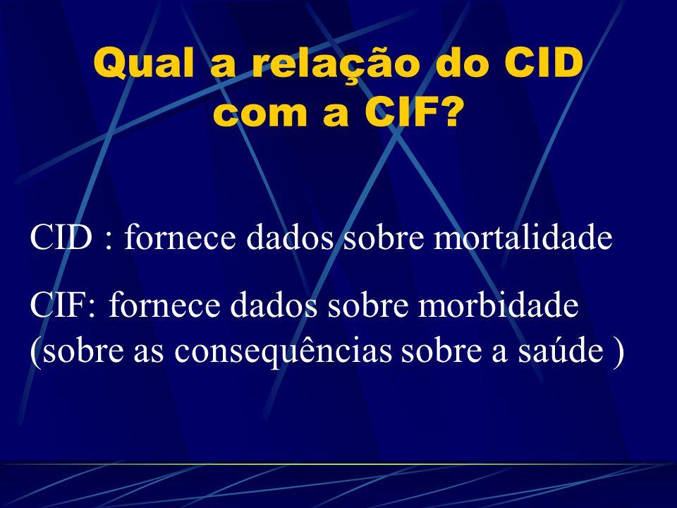 Qual a relação do CID com a CIF