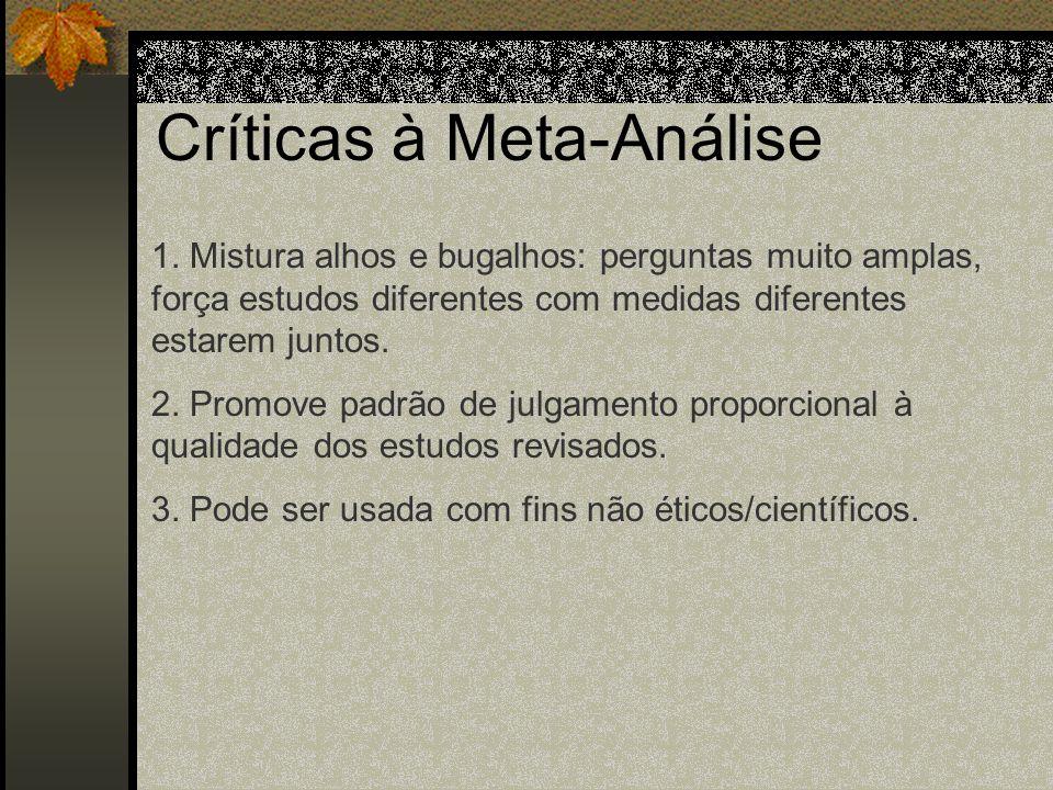 Críticas à Meta-Análise