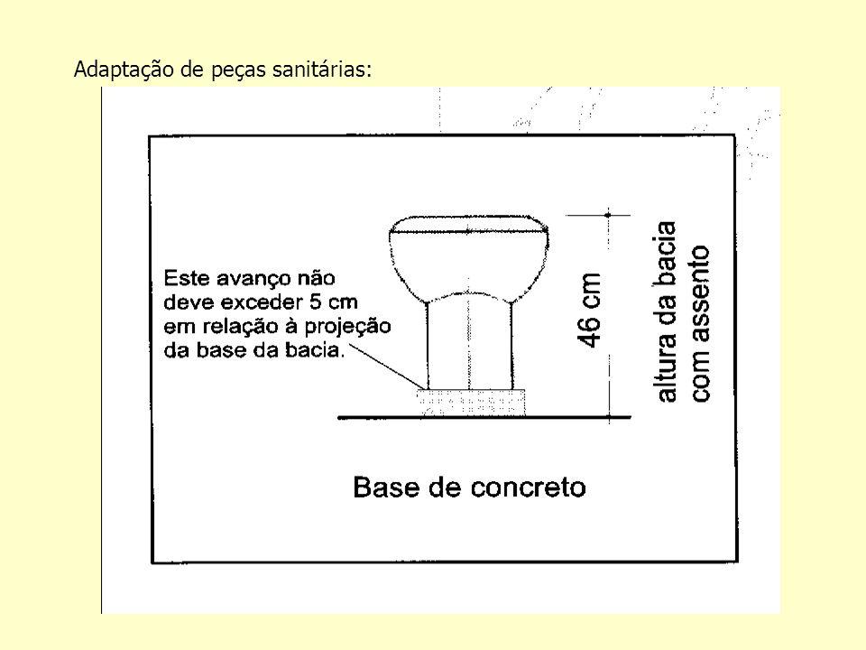 Adaptação de peças sanitárias: