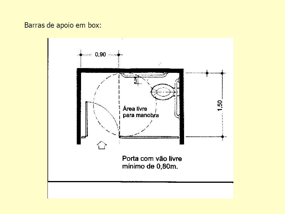 Barras de apoio em box: