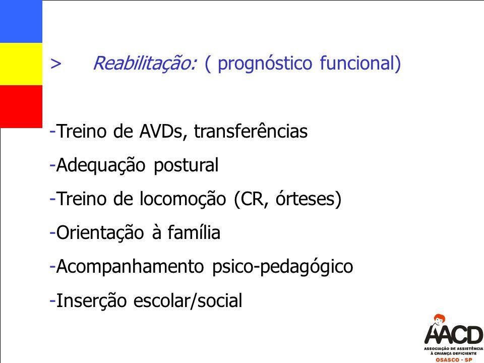 Reabilitação: ( prognóstico funcional)