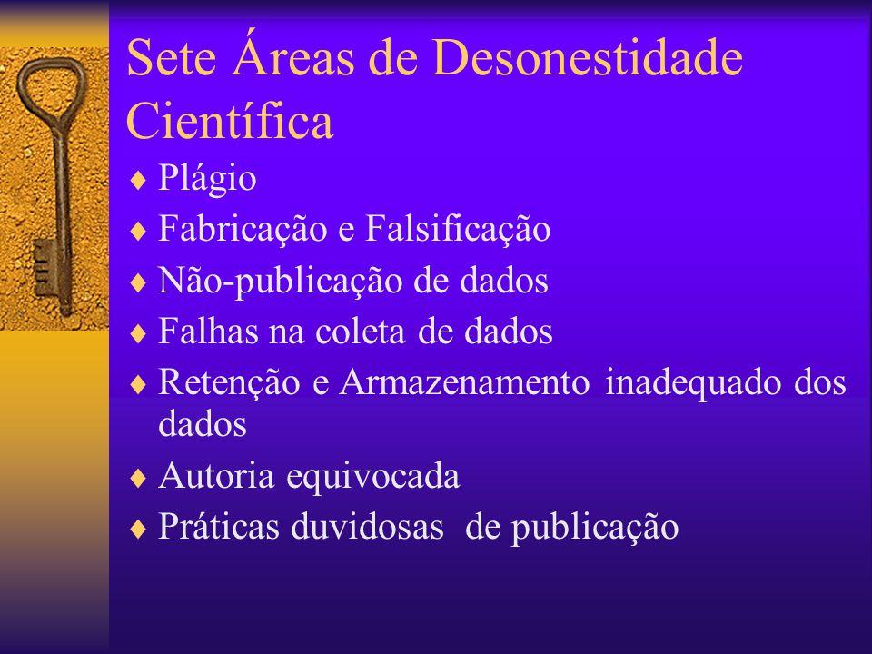 Sete Áreas de Desonestidade Científica