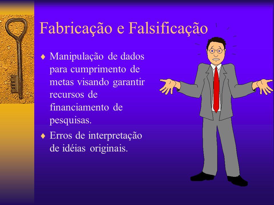 Fabricação e Falsificação