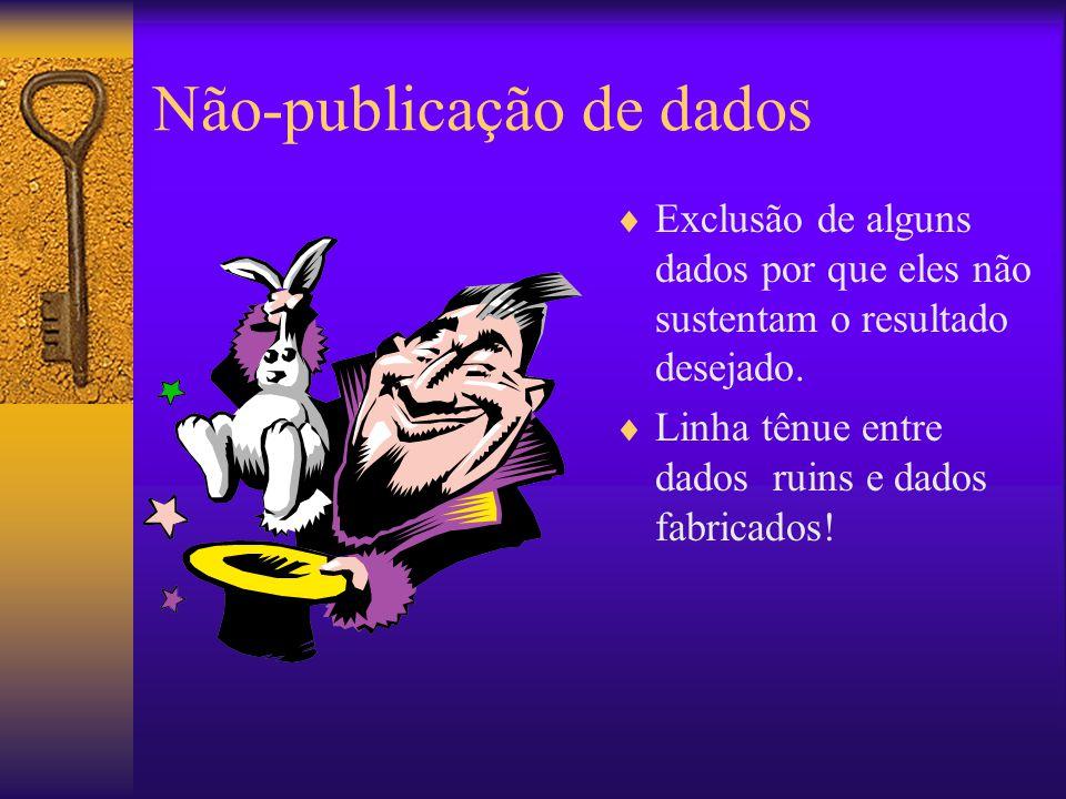 Não-publicação de dados