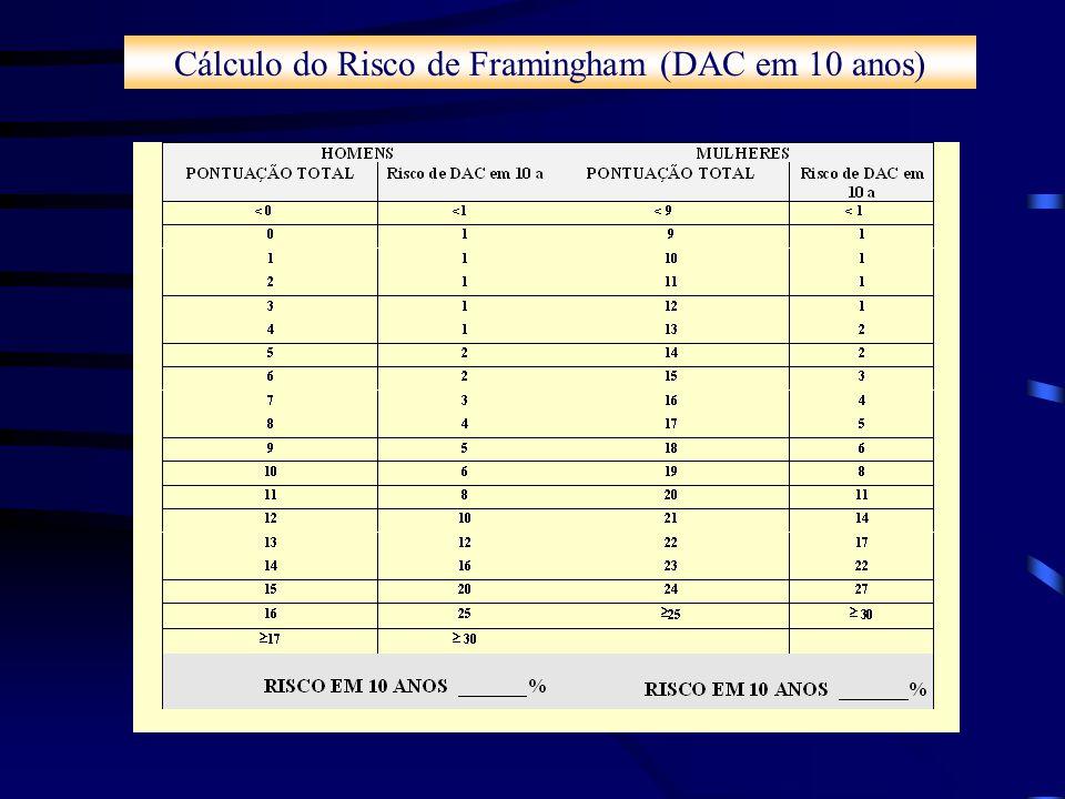 Cálculo do Risco de Framingham (DAC em 10 anos)
