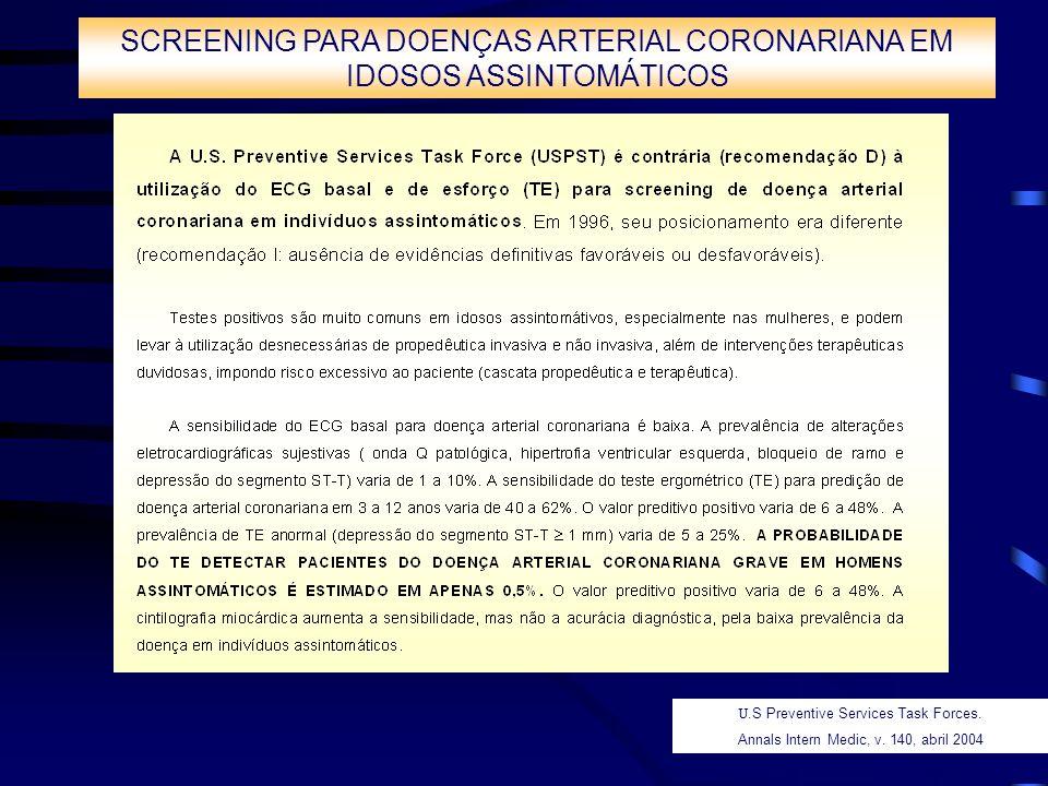 SCREENING PARA DOENÇAS ARTERIAL CORONARIANA EM IDOSOS ASSINTOMÁTICOS
