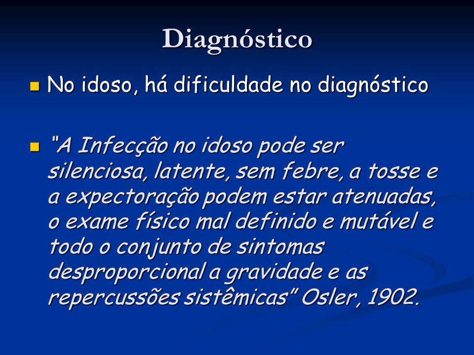 Diagnóstico No idoso, há dificuldade no diagnóstico
