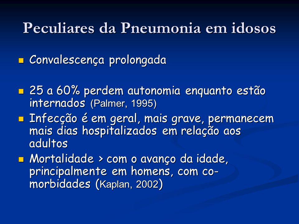 Peculiares da Pneumonia em idosos