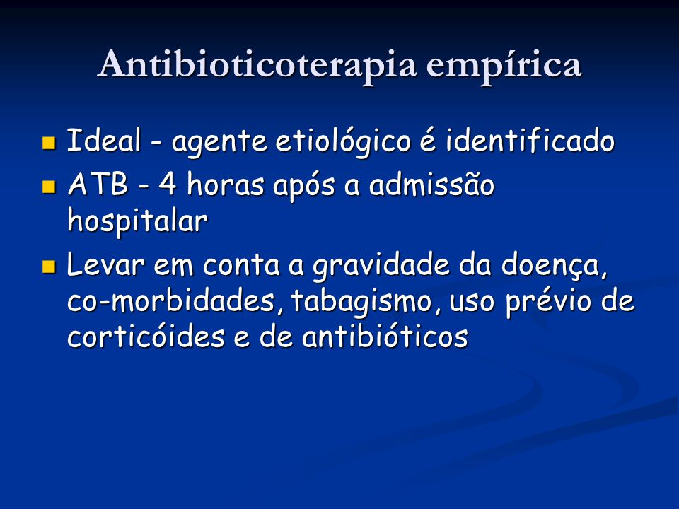 Antibioticoterapia empírica
