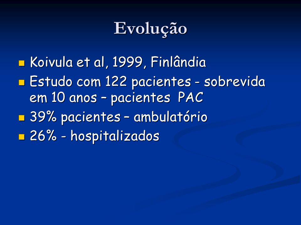 Evolução Koivula et al, 1999, Finlândia