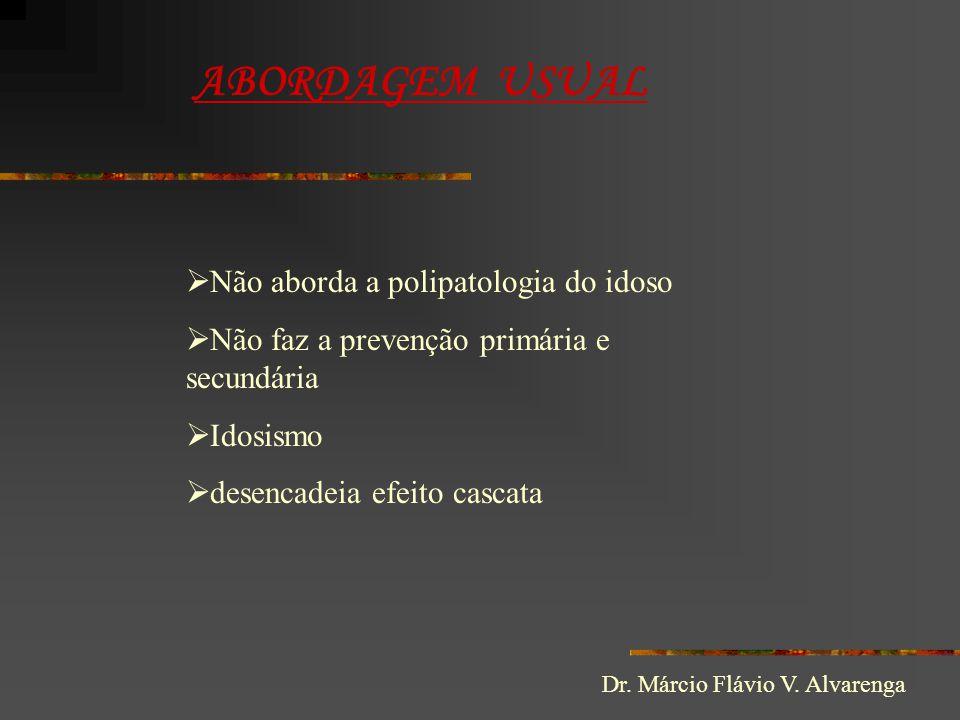 ABORDAGEM USUAL Não aborda a polipatologia do idoso