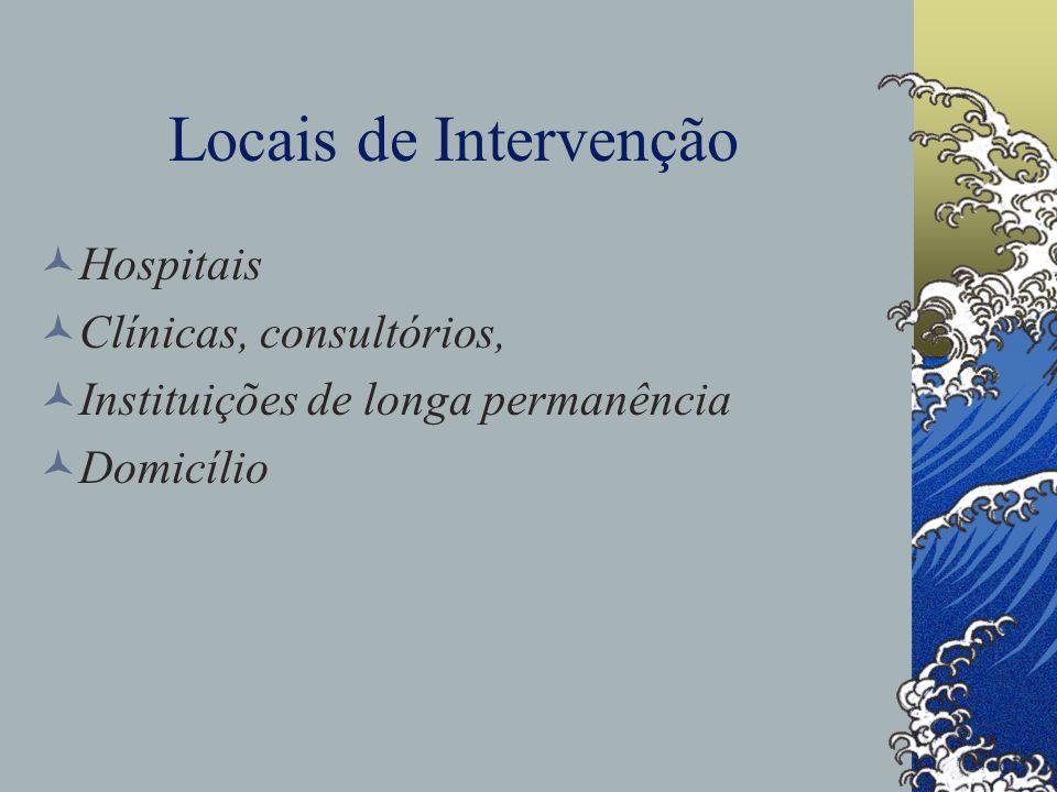 Locais de Intervenção Hospitais Clínicas, consultórios,