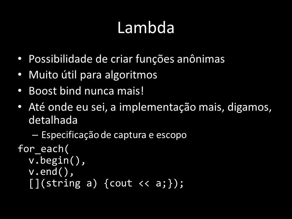 Lambda Possibilidade de criar funções anônimas