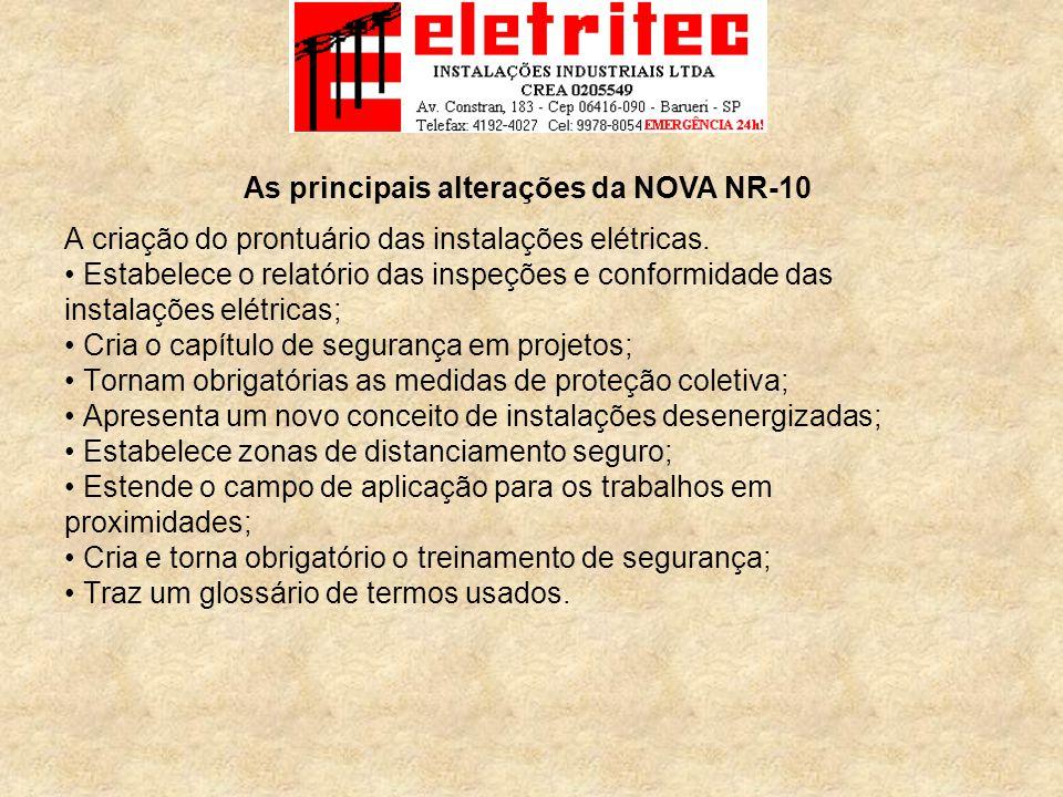 As principais alterações da NOVA NR-10