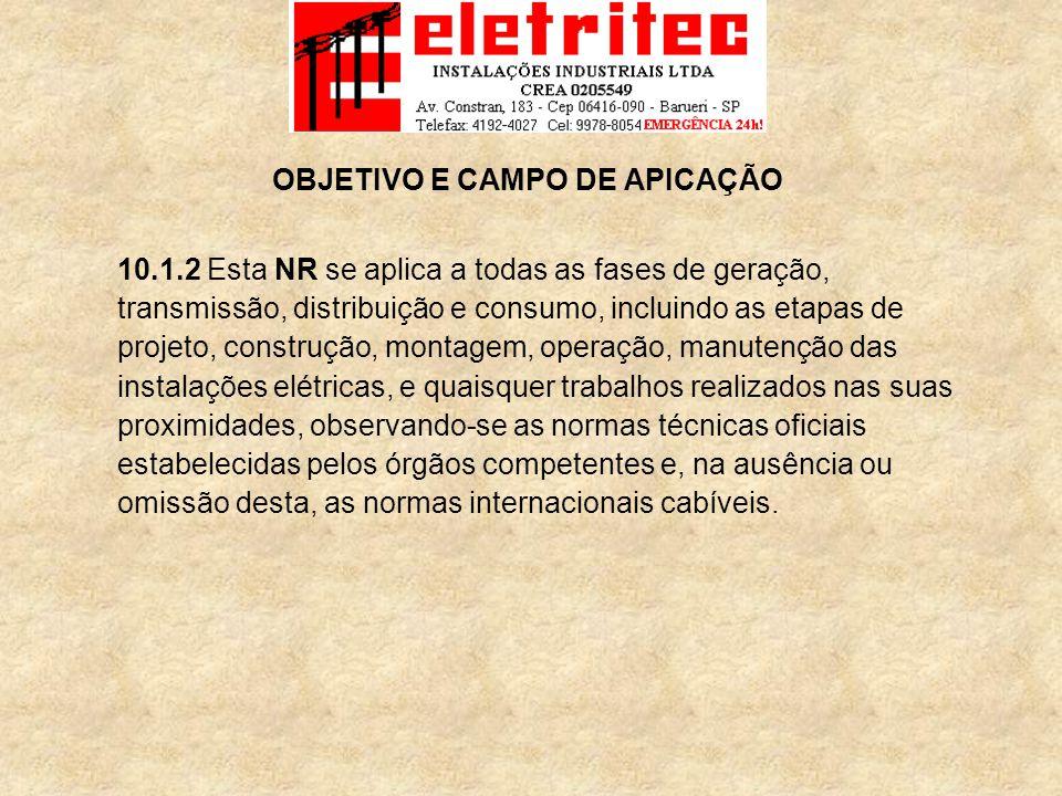 OBJETIVO E CAMPO DE APICAÇÃO