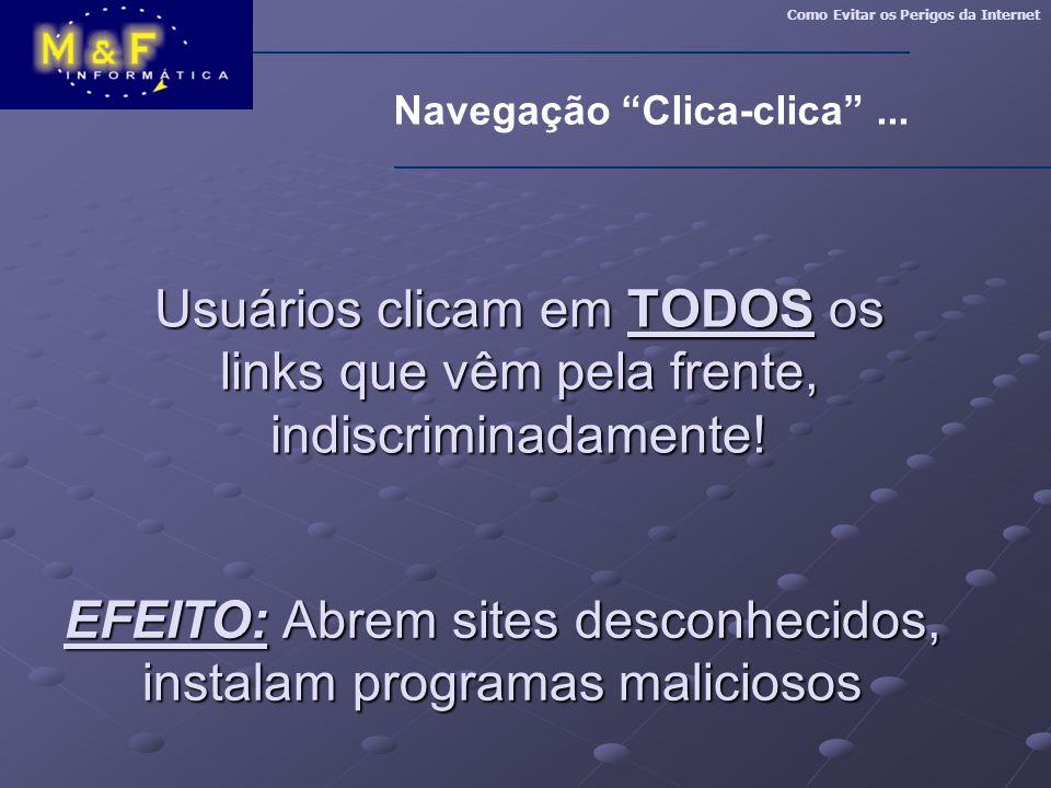 Navegação Clica-clica ...