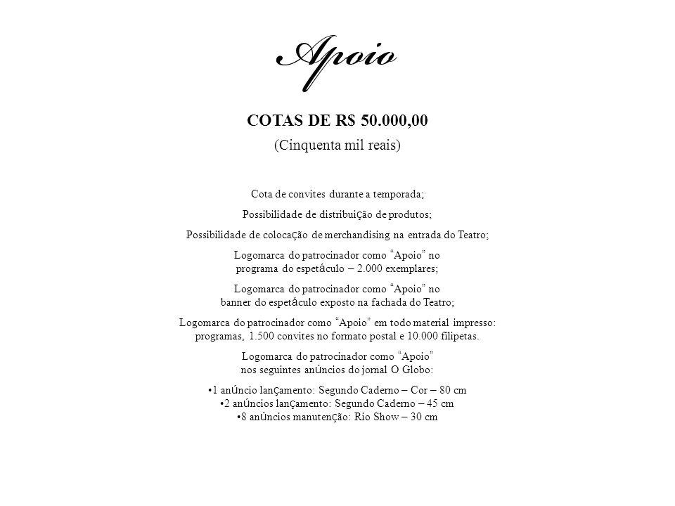 COTAS DE R$ 50.000,00 (Cinquenta mil reais)