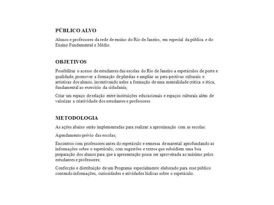 PÚBLICO ALVO OBJETIVOS METODOLOGIA