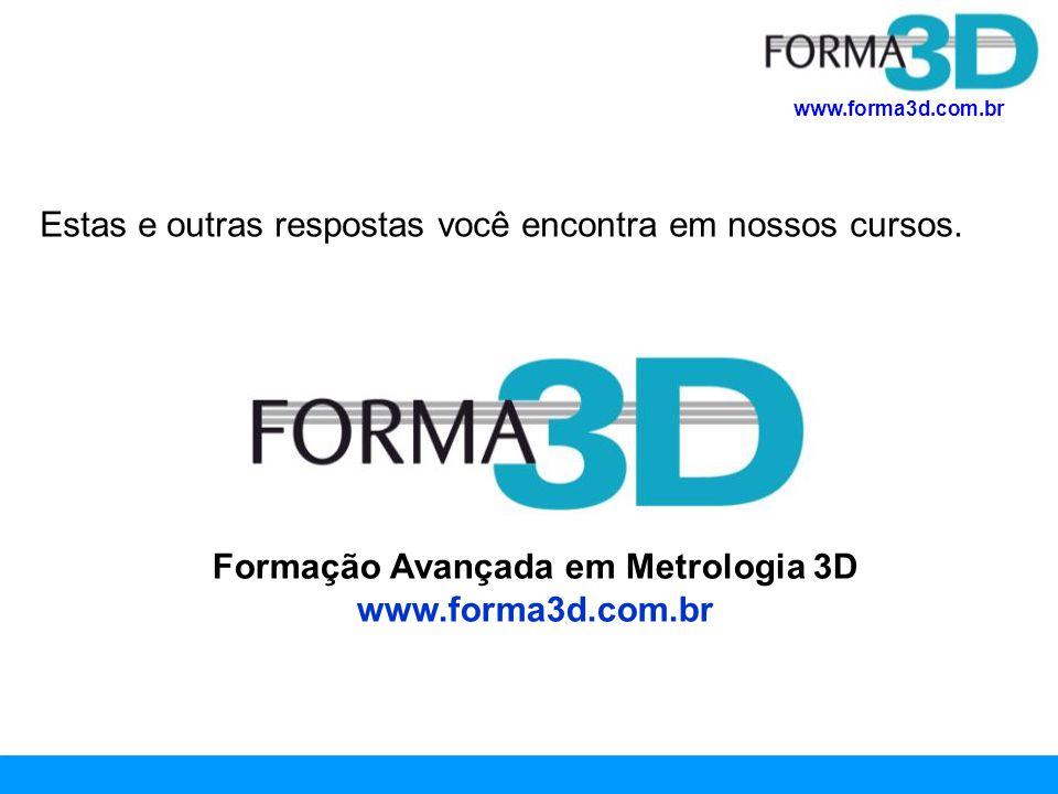 Formação Avançada em Metrologia 3D