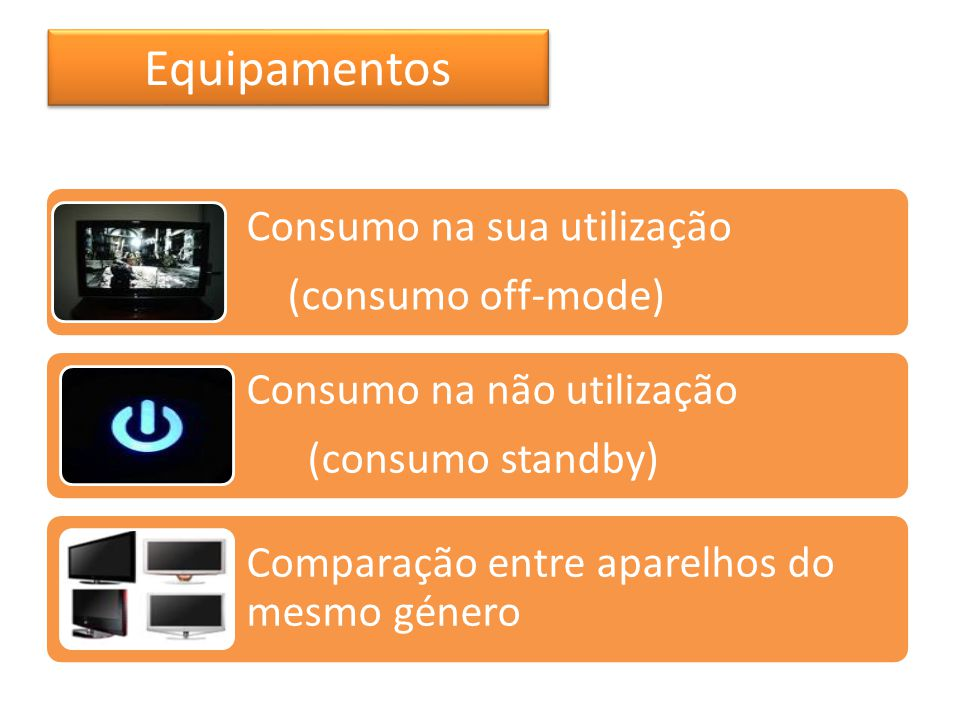 Equipamentos Consumo na sua utilização (consumo off-mode)
