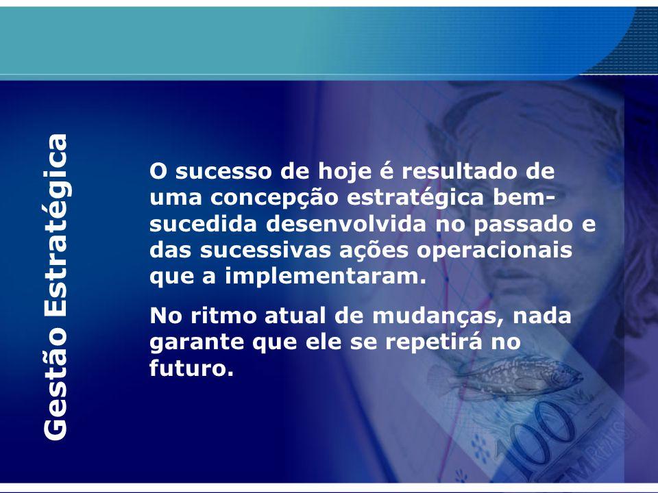 O sucesso de hoje é resultado de uma concepção estratégica bem-sucedida desenvolvida no passado e das sucessivas ações operacionais que a implementaram.