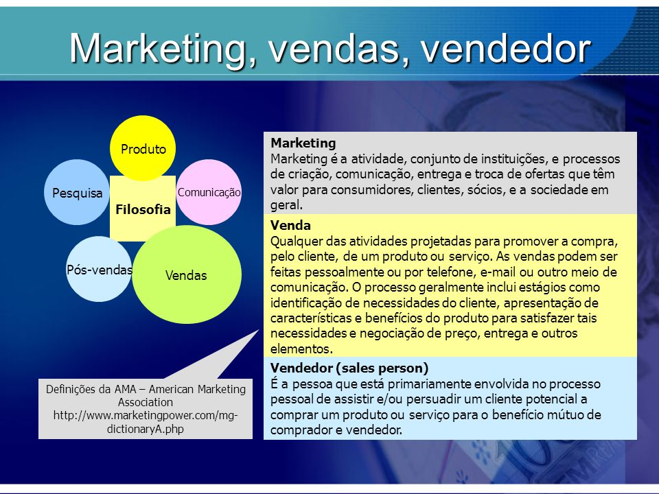 Marketing, vendas, vendedor