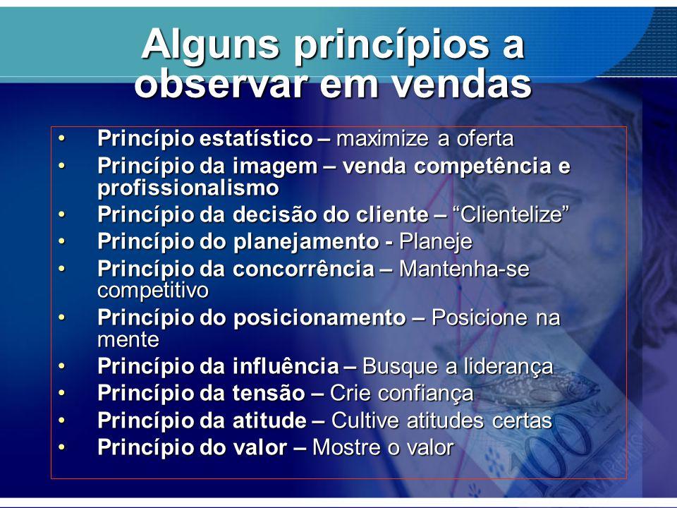 Alguns princípios a observar em vendas