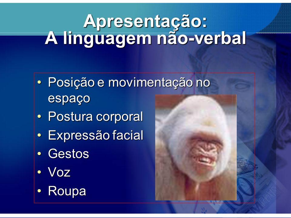 Apresentação: A linguagem não-verbal