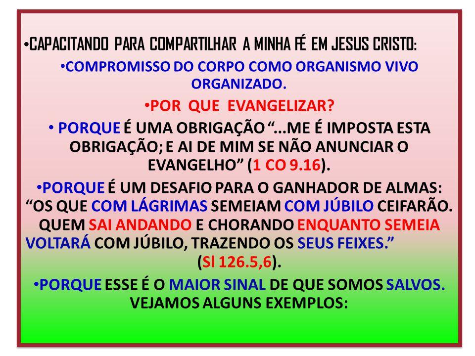 COMPROMISSO DO CORPO COMO ORGANISMO VIVO ORGANIZADO.