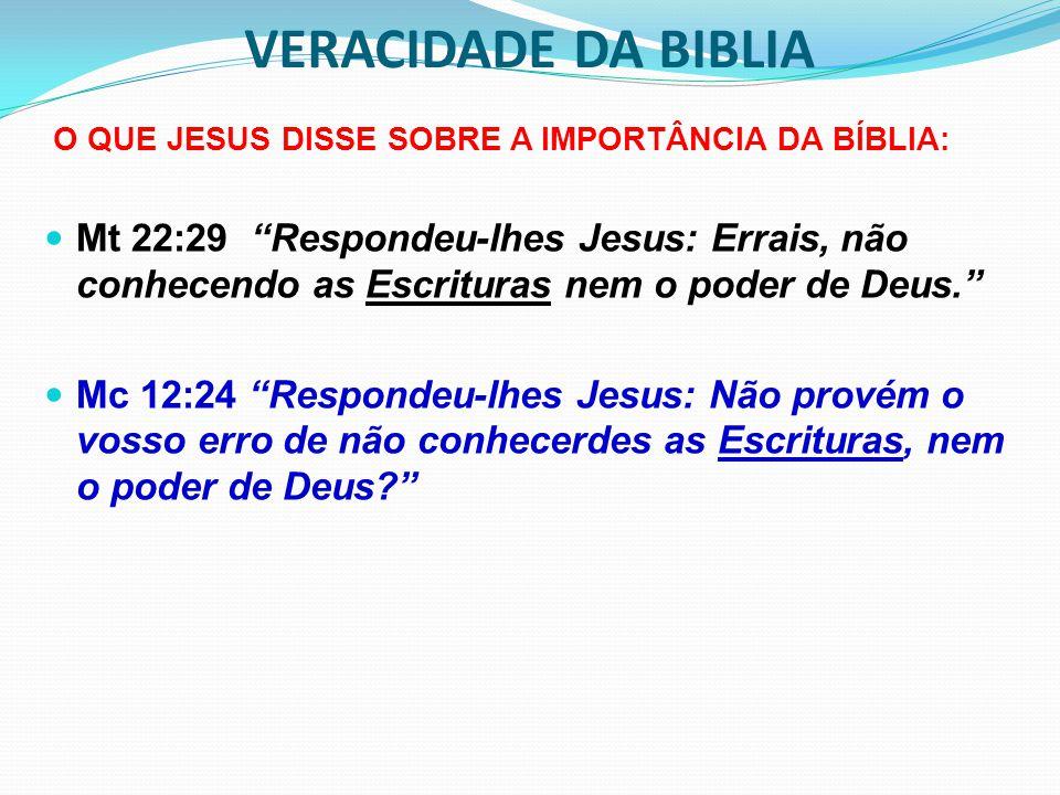 O QUE JESUS DISSE SOBRE A IMPORTÂNCIA DA BÍBLIA: