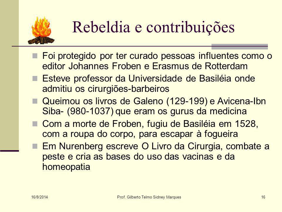 Rebeldia e contribuições