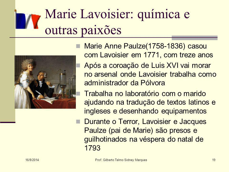 Marie Lavoisier: química e outras paixões