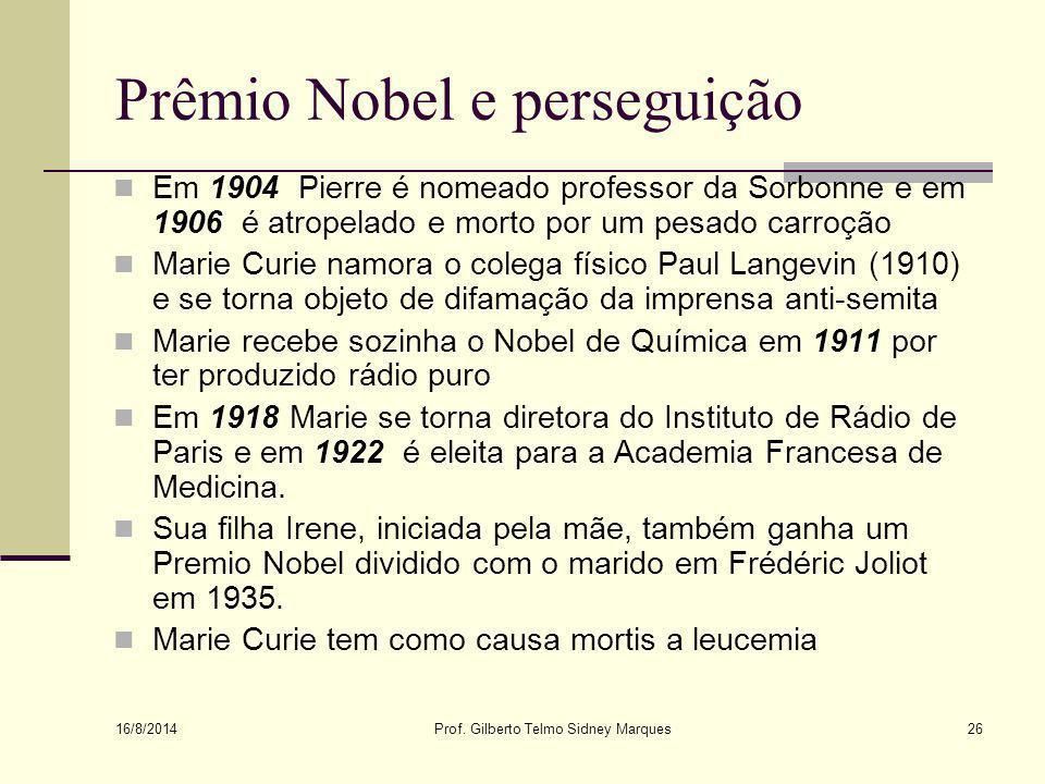 Prêmio Nobel e perseguição