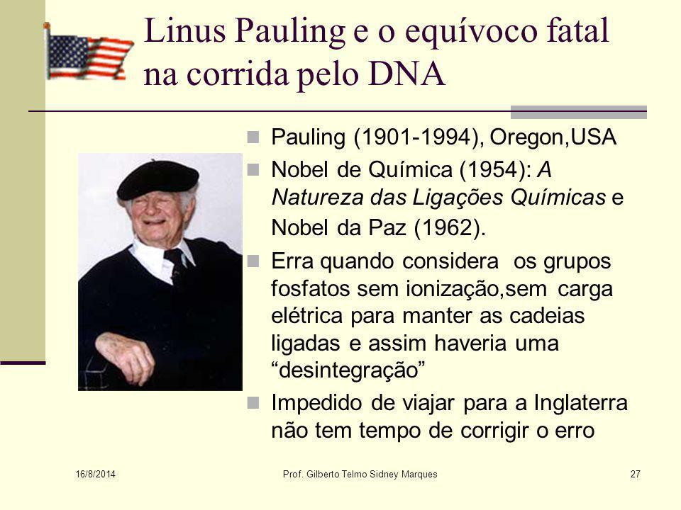 Linus Pauling e o equívoco fatal na corrida pelo DNA