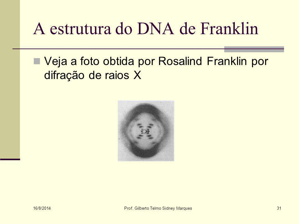 A estrutura do DNA de Franklin